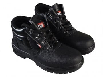 4 D-Ring Chukka Black Safety Boots UK 9 EUR 43